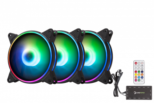 gamepower air turbine rgb argb fan set kit