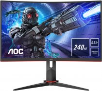 "AOC C27G2ZU/BK 27"" 0,5ms 240Hz 300nit Freesync2 G-Sync Curved Gaming Monitör"