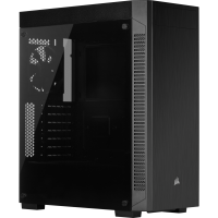 Corsair 110R CC-9011183-WW USB 3.1 Temperli Cam Siyah ATX Mid-Tower Gaming (Oyuncu) Kasa