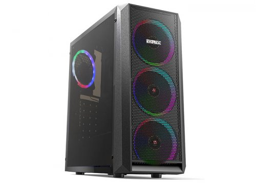Everest X-MESH 4 x Rainbow Fan USB 3.0 ATX Mini Tower Gaming Kasa