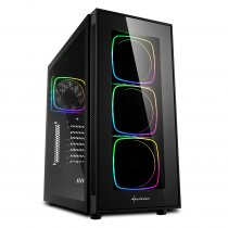 Sharkoon TG6-RGB USB 3.0 Temperli Cam ATX Mid-Tower Gaming (Oyuncu) Kasa