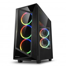 Sharkoon REV200 RGB USB 3.0 Temperli Cam ATX Mid-Tower Gaming (Oyuncu) Kasa