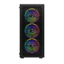 GamePower Horizon Gaming MESH 4*120mm RGB Fan Mesh Kasa RGB Kontrolcü ve Uzaktan Kumanda
