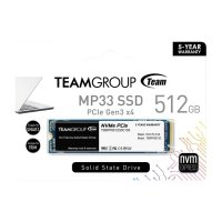Team MP33 512GB 1700/1400MB/s NVMe PCIe M.2 SSD Disk