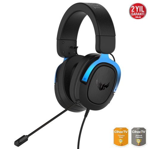 Asus TUF Gaming H3 Mavi 7.1 Surround 3.5mm Kablolu Gaming Kulaklık