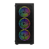 GamePower Horizon Gaming MESH Panel 550W 80+ Bronze Dahili PSU 4*120mm RGB Fan RGB Kontrolcü ve Uzaktan Kumanda