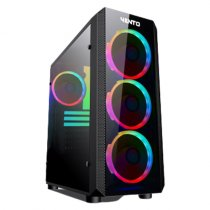 Vento VG04FE+ 700W 80 Plus Dahili PSU'lu USB 3.0 Temperli Cam ATX Mid-Tower Gaming Kasa