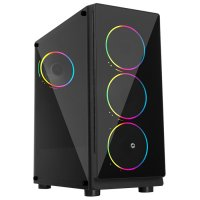 Frisby FC-9355G 600W 4 x Double Slim Ring Fan Temperli Cam USB 3.0 ATX Mid-Tower Gaming (Oyuncu) Kasa