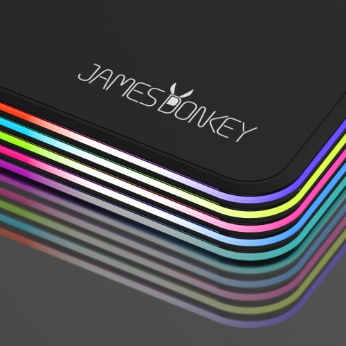 james donkey rgb gaming mouse pad