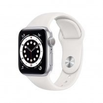 Apple Watch Seri 6 40mm GPS Silver Alüminyum Kasa ve Beyaz Spor Kordon MG283TU/A