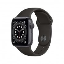 Apple Watch Seri 6 44mm GPS Space Gray Alüminyum Kasa ve Siyah Spor Kordon M00H3TU/A