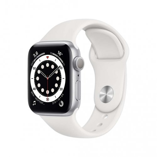Apple Watch Seri 6 44mm GPS Silver Alüminyum Kasa ve Beyaz Spor Kordon M00D3TU/A