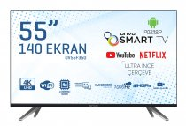 Onvo OV55F350 55 inç 140 Ekran Uydu Alıcılı Ultra HD Android Smart LED TV