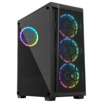 Frisby FC-9375G 600W 4 x 120mm Dual-Ring RGB Fan Temperli Cam Mesh Panel USB 3.0 ATX Mid-Tower Gaming (Oyuncu) Kasa