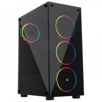 Frisby FC-9290G 500W 4 x Double Slim Ring Fan Temperli Cam USB 3.0 ATX Mid-Tower Gaming Kasa